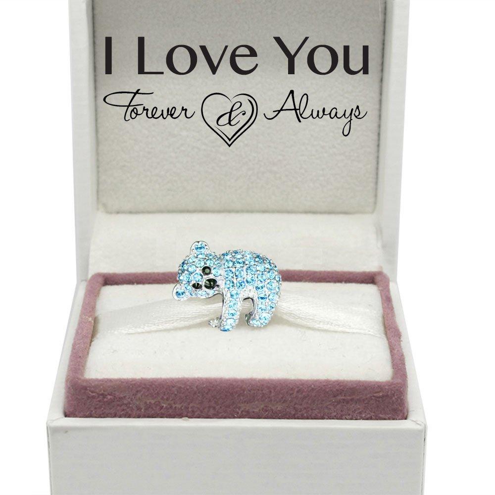 S925 Sterling Silver Gift boxed Koala Bear Charm