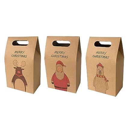 Amazon Com 30pack Santa Claus Reindeer Cute Bear Xmas Gift Bag