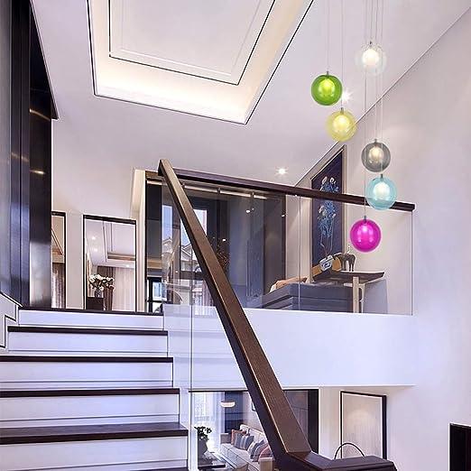 6 luces Dúplex Escalera de la lámpara creativa de la lámpara ...