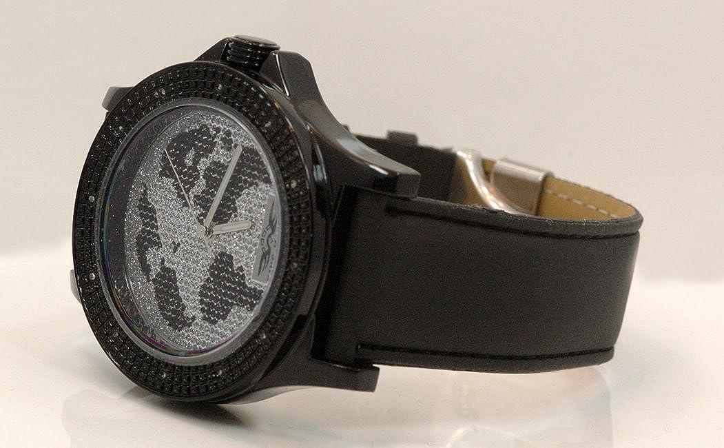 Amazon.com: Ice King Master Mens World Map Diamond Watch 0.12ctw KM102: Watches