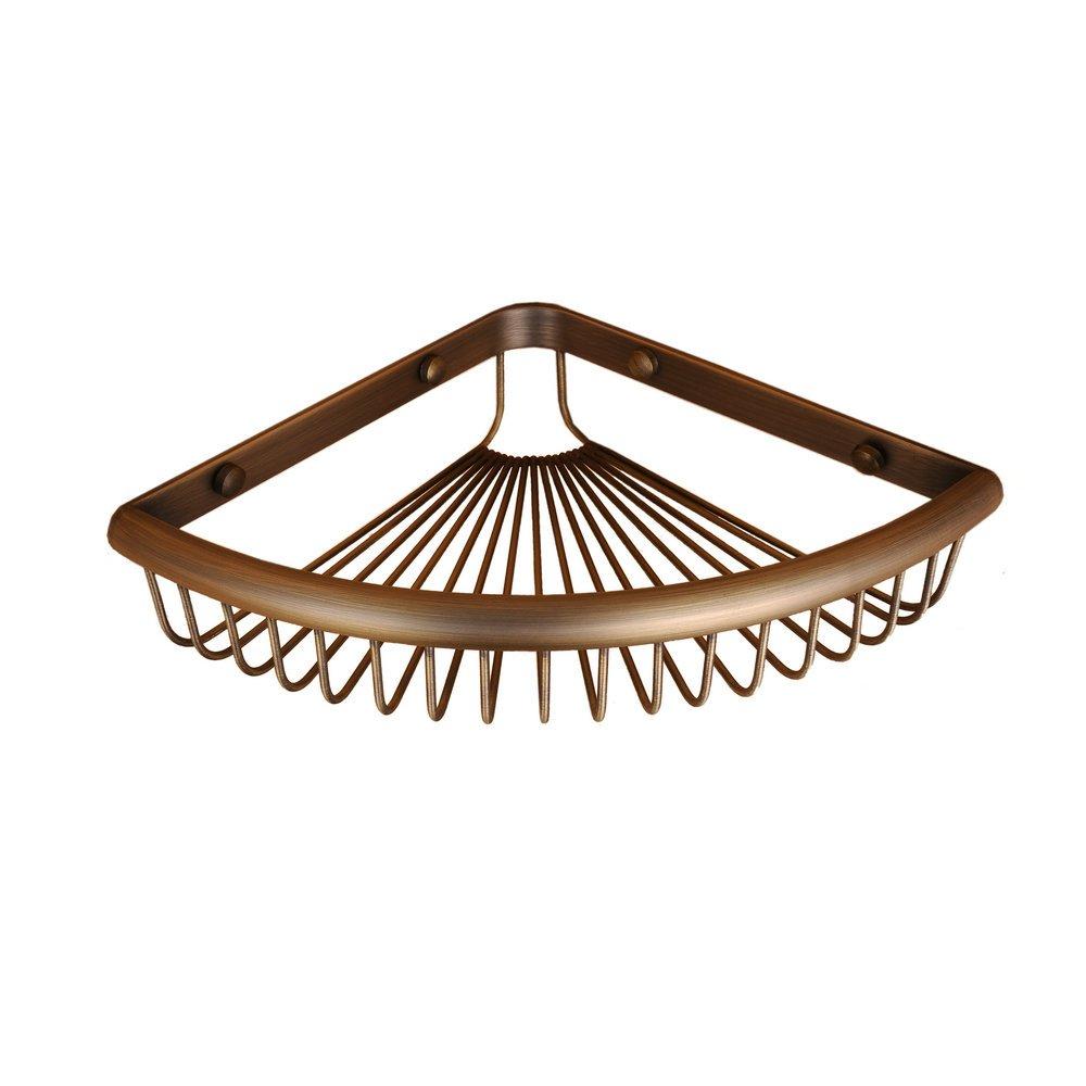 Hiendure Wall Mounted Shower Basket Corner Caddy,antique Bronze