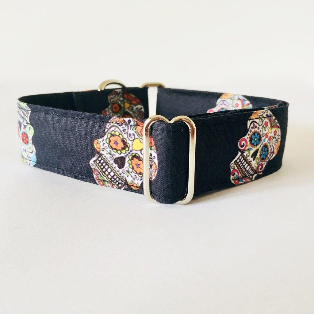 Collar Perro Martingale Modelo Calaveras Mexicanas
