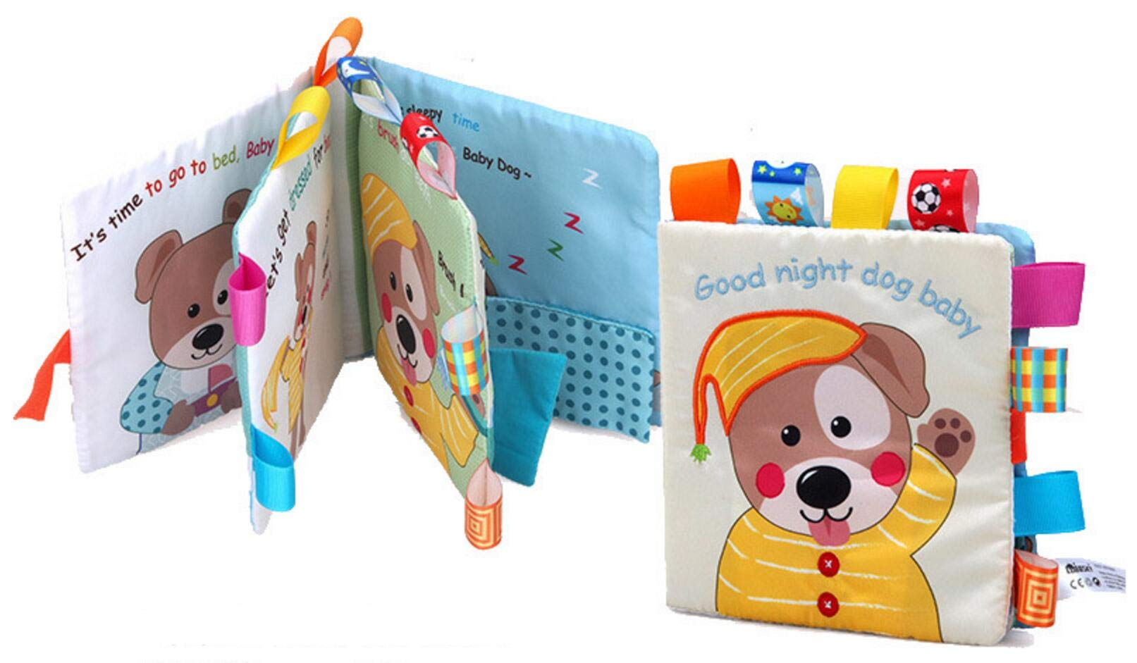 Puppy Baby Cloth Book Baby Tear not Bad Early Education Puzzle Enlightenment Toy Book can Enter The bite Does not Fade