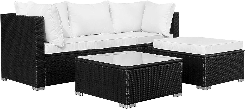Hansson Polyrattan Lounge Sitzgruppe Gartenmöbel Garnitur Poly Rattan 3 Sitzplätze