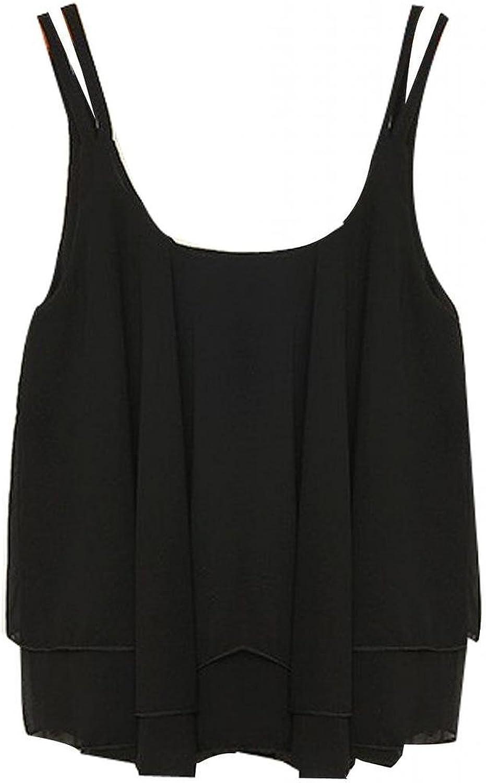 WearAll Tailles 44 /à 50 Grande Taille Swing d/ébardeur Top /à lani/ères Femmes Hauts