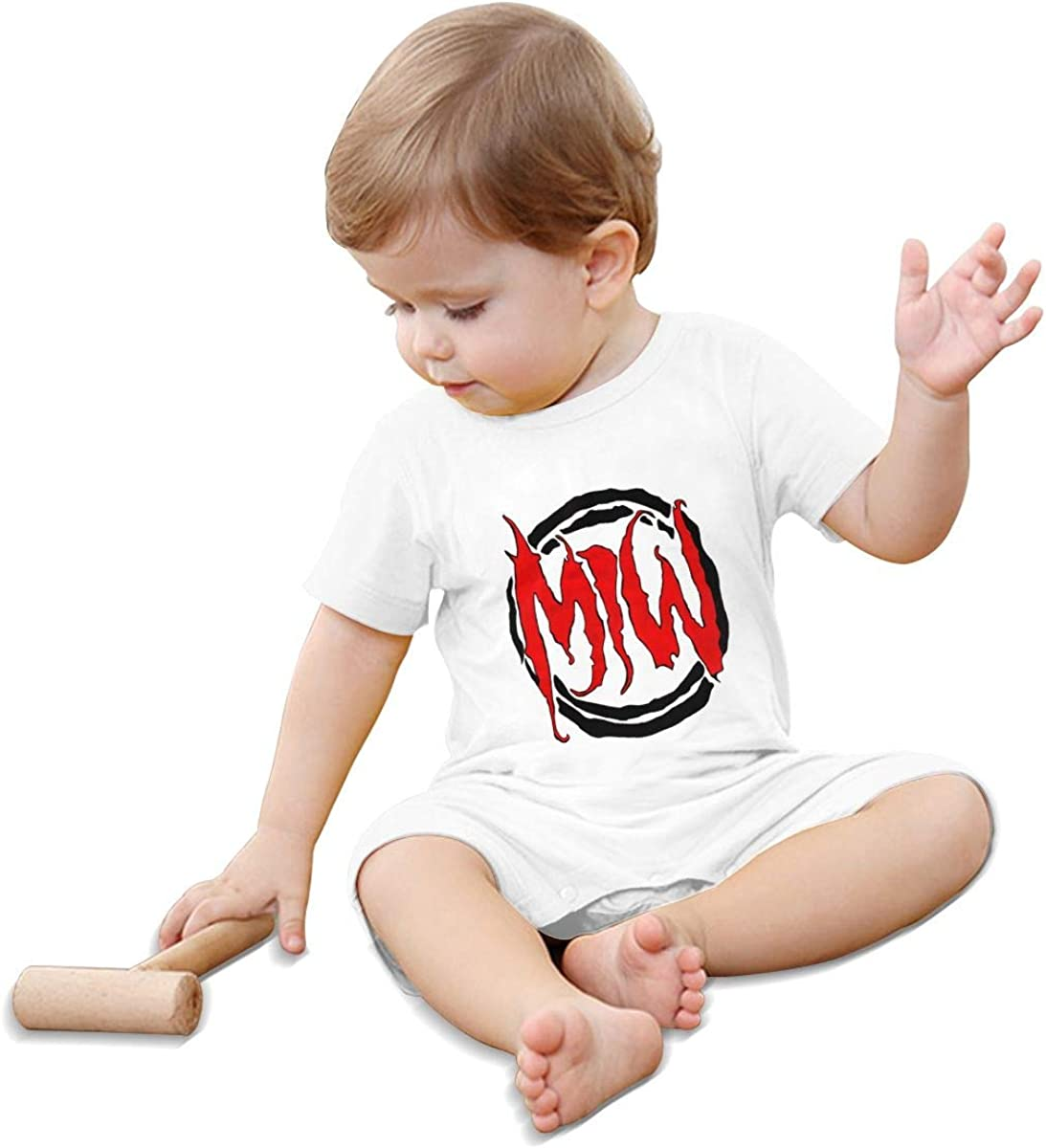 Motionless in White Fashionable Cute Cotton Baby Short-Sleeved Jumpsuit Newborn Climbing Suit