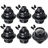 Black Period Style E26/ E27 Light Sockets. E26 Medium Screw Light Holder Black Edison Retro Pendant lamp holder. Edison…