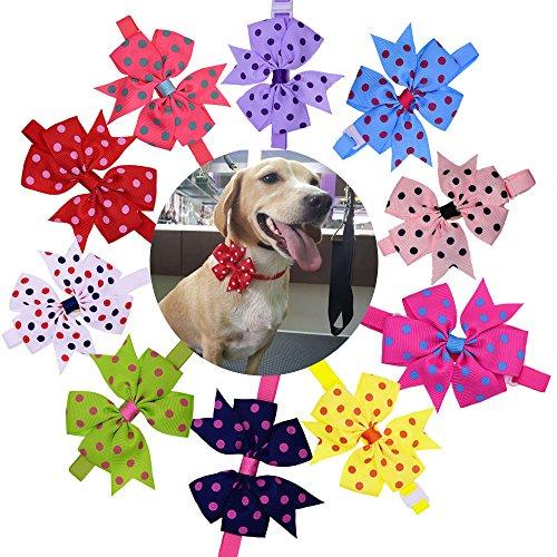 - Masue Pets Spring Summer Dog Bow Ties 3.2
