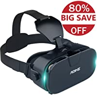 VR Headset with Bluetooth Remote Controller AOINE F3 Virtual Reality Headset/Gamepad for Large Viewing Immersive Experience VR Goggles 3D Movies/Games in Smartphones with 4.7-6.2 inch Screen