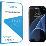 Screen Protector For Samsung Galaxy S7 Tempered Glass, TURATA® 9H Hardness Full Coverage Crystal Clean Rounded Edges No Bubbles Easy Installation