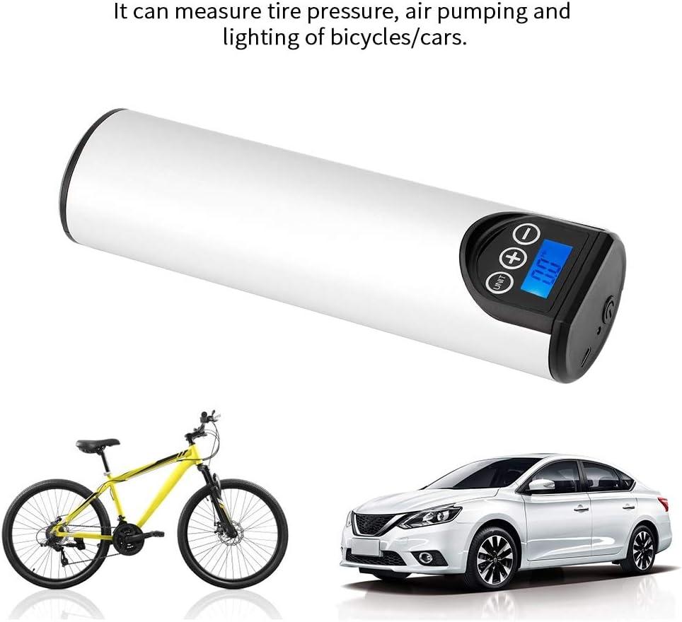 negro Akozon Mini Compresor de Aire El/éctrico Port/átil 8,3 bar Pantalla Digital con Luz de Emergencia para Neum/áticos Coche Bicicleta