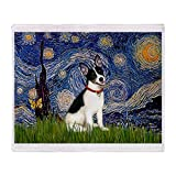CafePress - Starry Night / Rat Terrier Throw Blanket - Soft Fleece Throw Blanket, 50