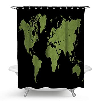 Amazon Com Huakz Old Map Of The World Shower Curtain Retro Stone