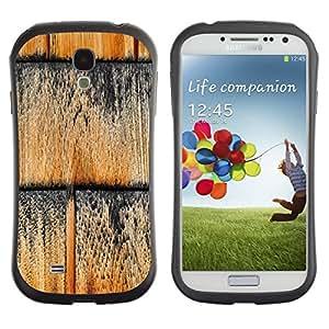 "Hypernova Slim Fit Dual Barniz Protector Caso Case Funda Para SAMSUNG Galaxy S4 IV / i9500 / i9515 / i9505G / SGH-i337 [Patrón de textura de la pared Negro""]"