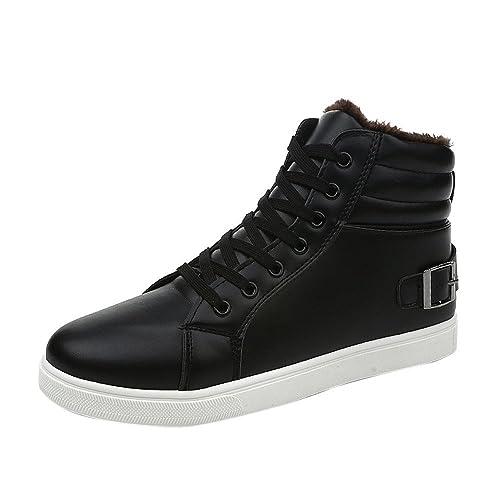 Oyedens Stivali Uomo Sneakers Scarpe da Corsa Inverno Caldo