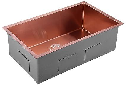AguaStella AS3018RG Kitchen Sink Stainless Steel 30 Inch Undermount ...
