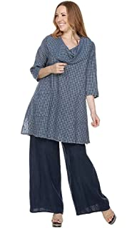 ed47fc9f72 Match Point Women s Cowl Neck Linen Tunic Top sizes Small - 2X at ...