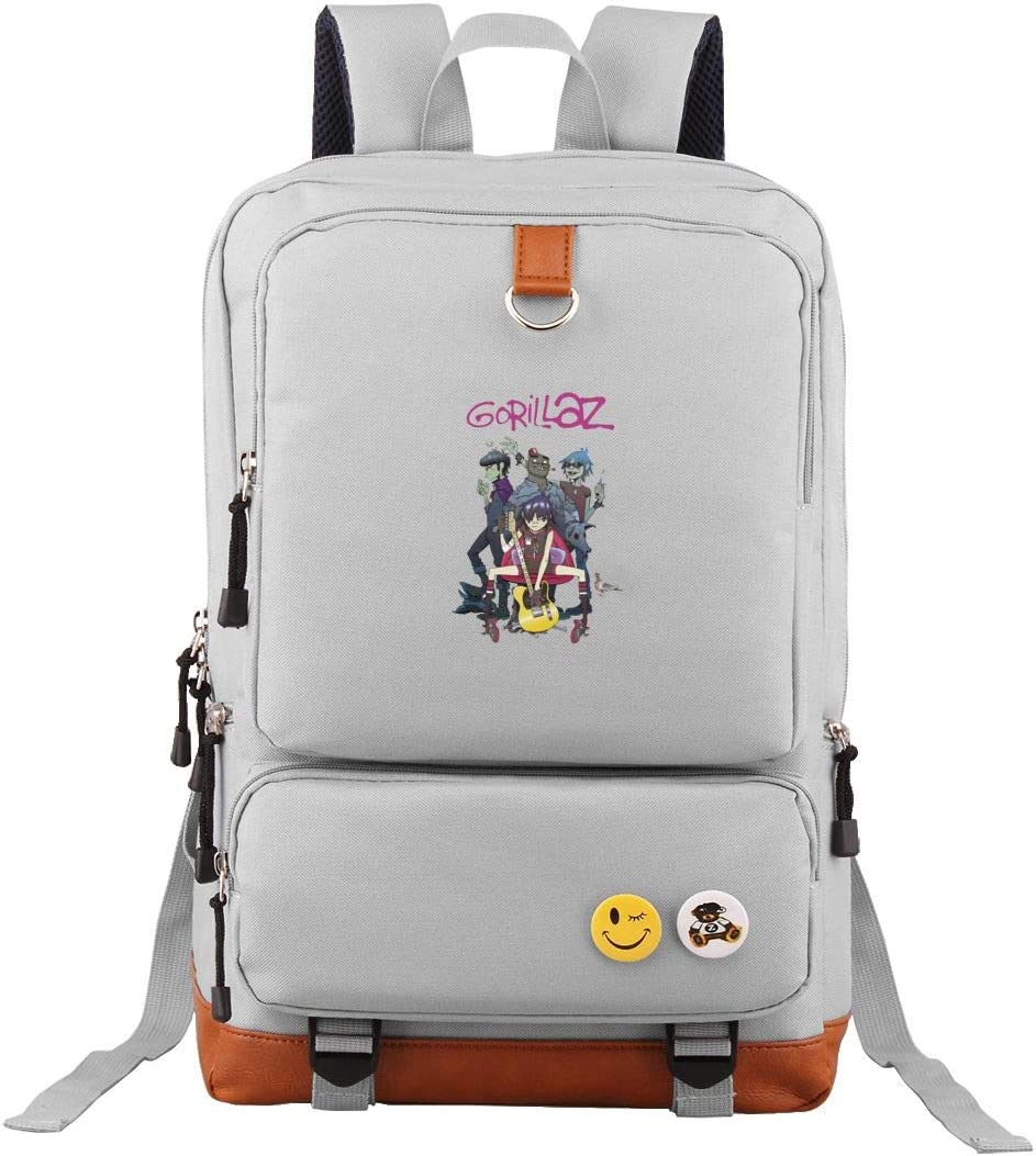 Gorillaz Cool Backpack Boys Mens Personalized Backpack for Women Girls Fashion School College Bag