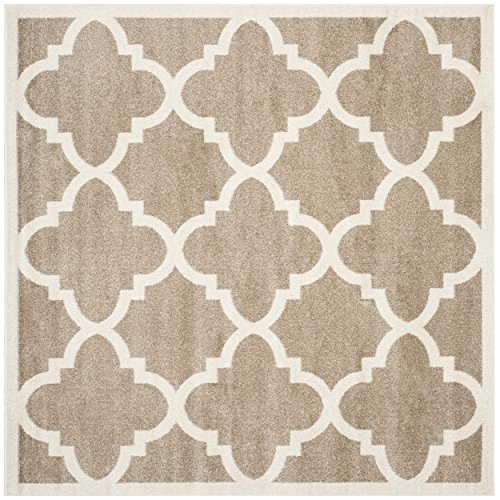 (Safavieh Amherst Collection AMT423S Wheat and Beige Indoor/ Outdoor Square Area Rug (7' Square))