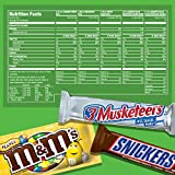 SNICKERS, M&M'S, 3 MUSKETEERS & TWIX Full Size