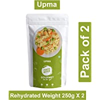 PORTABITES Ready to Eat Upma Freeze Dried 100% Natural (No MSG, No Preservatives) - (Pack of 2)