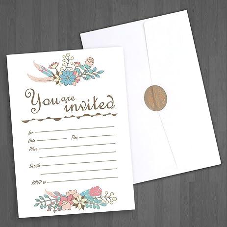 amazon com jofanza fill in invitation cards pack of 50 wedding