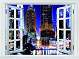 Fighting Shop One Piece Wallpaper of New York City Manhattan Night Hot Retro Poly glue Print PosterModern HD s Size 20x30 U3014
