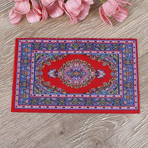 Speciosa Cute 1:12 Dollhouse Miniature Turkish Rugs Retro Case Bedroom Furniture Set for Kids Playing House Game Toy Gift Holiday Must Haves Friendship Gifts Childrens Favourites (Furniture Miniature Michaels)