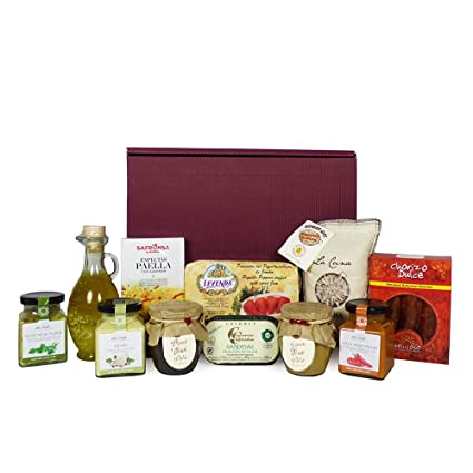 70b7a35a8c75 Gourmet Spanish Food Gift Hamper - Paella Mix, Bomba Rice, Olive Pate,  Olive Oil, Peppers Stuffed with ...
