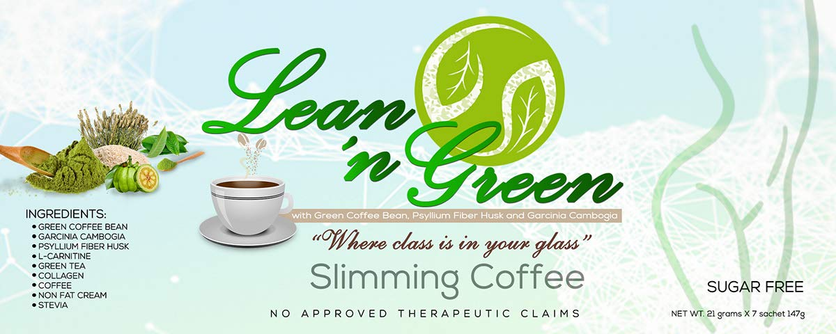 3 boxes LEAN N' GREEN SLIMMING COFFEE 21 sachets