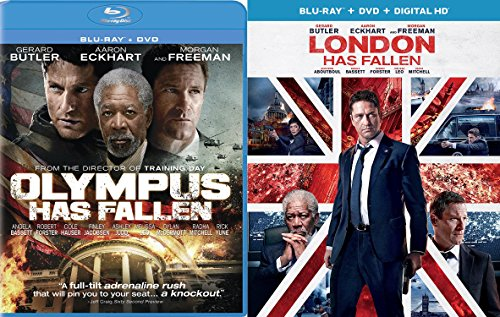 London Has Fallen + Olympus Has Fallen [Blu Ray] Action Bundle DVD Movie 2 Film Set