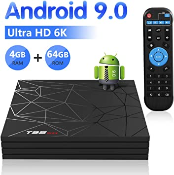 Android TV Box,T95 MAX Android 9.0 TV Box 4GB RAM/64GB ROM H6 Quad-Core Soporte 2.4Ghz WiFi 6K HDMI DLNA 3D Smart TV Box: Amazon.es: Electrónica
