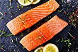 Greensbury Market - 3 Pounds Fresh Wild-Caught Alaskan Sockeye Salmon - 8 (6 oz) Fillets - Boneless, Skin-On