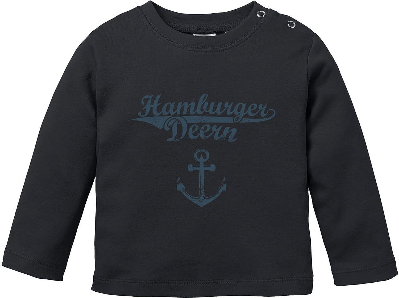 2 Baby T-Shirt Longsleeve Bio Baumwolle EZYshirt Hamburger Jung /& Deern Vol