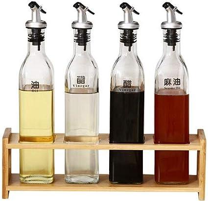 Zonster Bouteille dhuile en Plastique Bidons /épices Sauce vinaigre Couvercle Pot Ustensiles de Cuisine Conteneurs Leakproof Bo/îte de Rangement Oiler