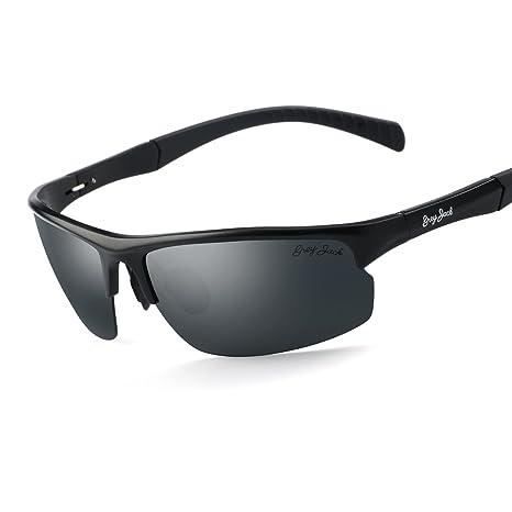 f5f8d7cd8de GREY JACK Mens Polarized Sports Sunglasses Al-Mg Alloy Lightweight Half  Frame for Men Women