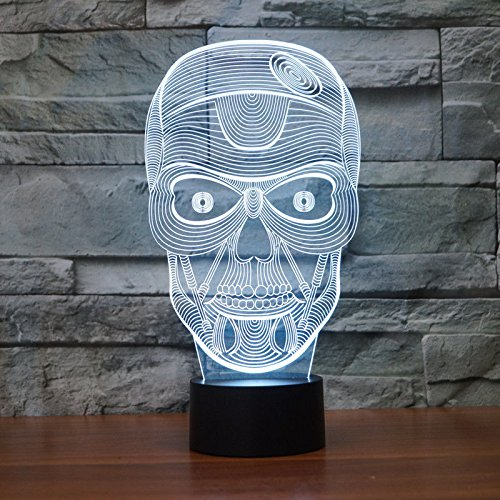 Comics+3D+Night+Lamp+ Products : Halloween Gift Acrylic 3D Night Light Table Desk Lamp Touch Switch 7 Colors