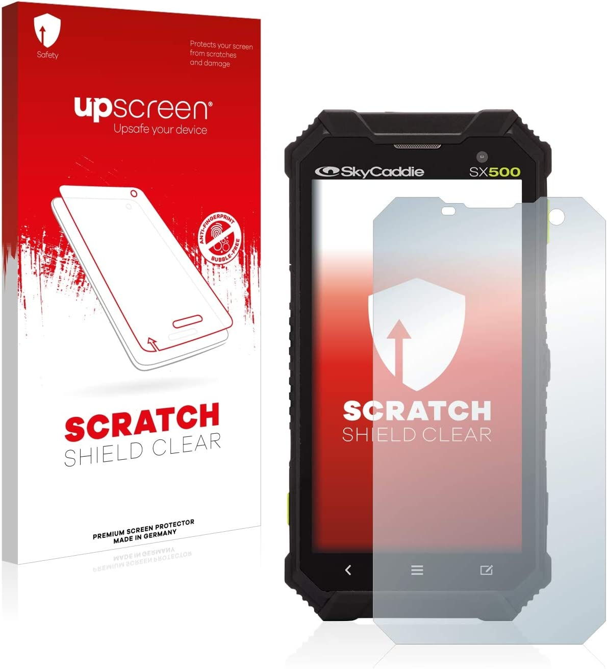 Scratch Shield Clear Screen Protector for Casio DT-X400 High Transparency Multitouch Optimized Strong Scratch Protection upscreen