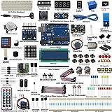 UCTRONICS UNO R3 Complete Ultimate Starter Kit for Arduino w/Tutorial, UNO R3 Development Board, LCD1602, Servo, Stepper Motor, Joystick, 21 keys Remote Controller, PIR Motion Sensor (190 Items)