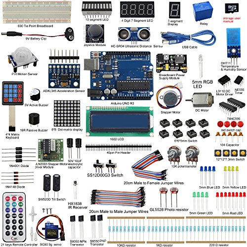 UCTRONICS UNO R3 Complete Ultimate Starter Kit for Arduino w