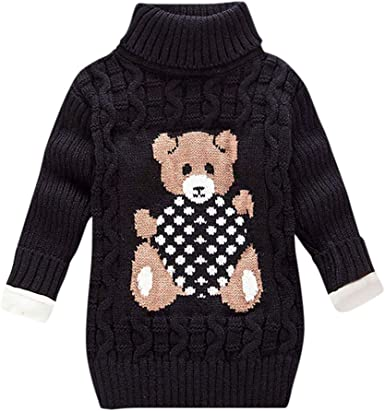 Baby Girl Boy Knit Sweater Toddler Warm Long Sleeve Pullover Tops Fall Winter Clothes