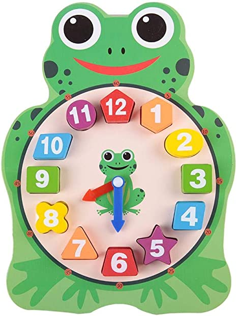 OWL SHAPED LEARNING TOY ECLO CHILDRENS EDUCATIONAL LEARN TO TELL THE TIME CLOCK
