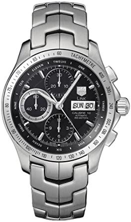 9f30d1f16f5 TAG Heuer Men s CJF211A.BA0594 Link Automatic Chronograph Day-Date Watch