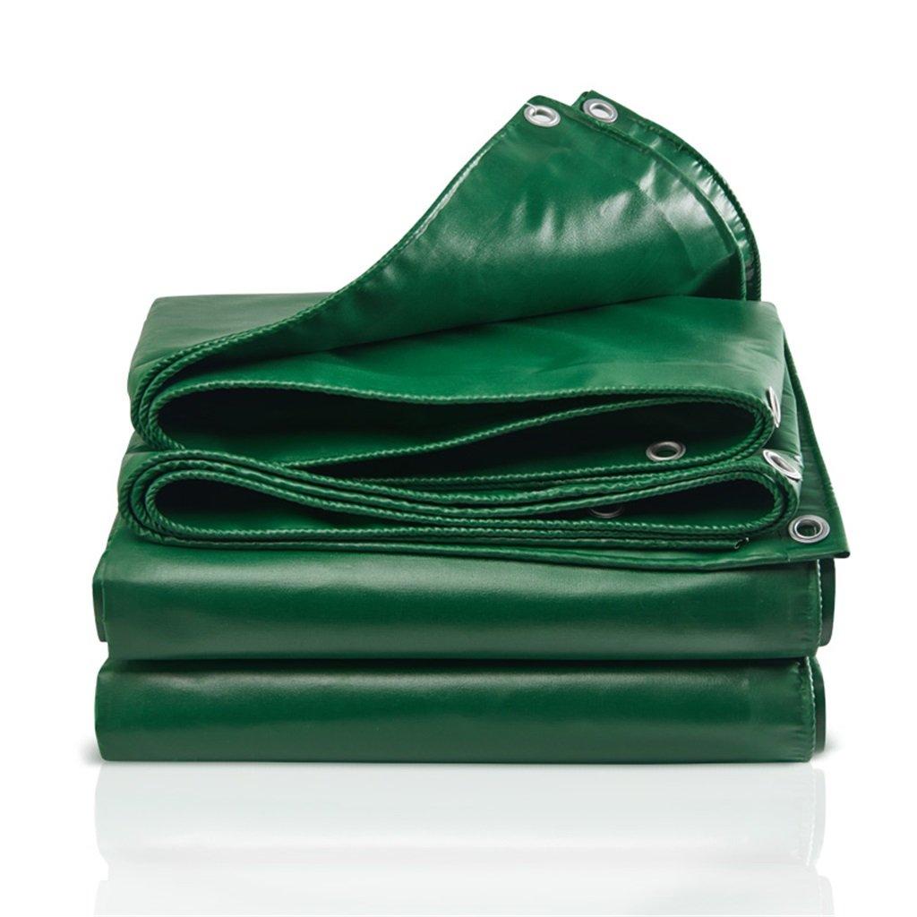 Zelt Zubehör Plane Segeltuch-Segeltuch-leistungsfähiger wasserdichter Sonnenschutz benutzt im Poncho-Familien-kampierenden Garten draußen, Stärke 0.4mm, 500g / m2, 10 Größen-Wahlen, grün Idee für Camp