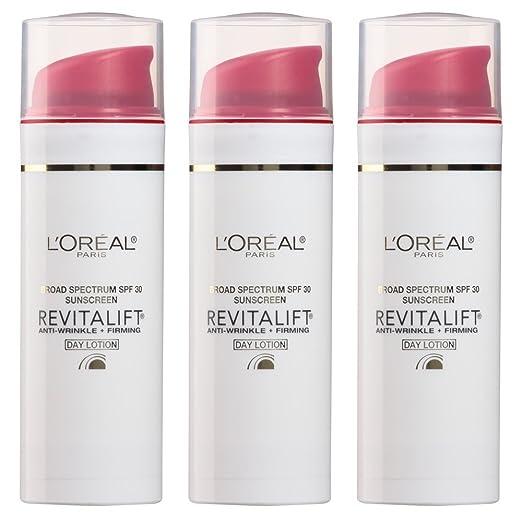 L'Oreal Paris Skin Care Revitalift Anti-Wrinkle Plus Firming Spf 30 Day Lotion, 1.7 fl.oz. 3 Count