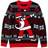 Tstars Dabbing Santa Ugly Christmas Sweater Gift for Boys/Girls 6yr - 12yr Kids Sweater