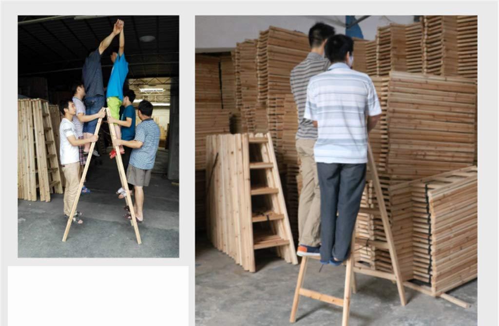 Klappleiter Bilaterale Holzleiter Size : 40 * 120CM Vier-Stufen-Engineering-Leiter Au/ßenarbeits Leiter Innendekoration Stehleitern Fotografie Ladder Multifunktion