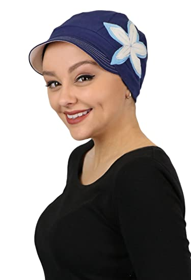 c8a0ba29204 Chemo Hats for Women Cancer Headwear Headcoverings Soft Cotton Cute  Baseball Caps (Blue Moon)
