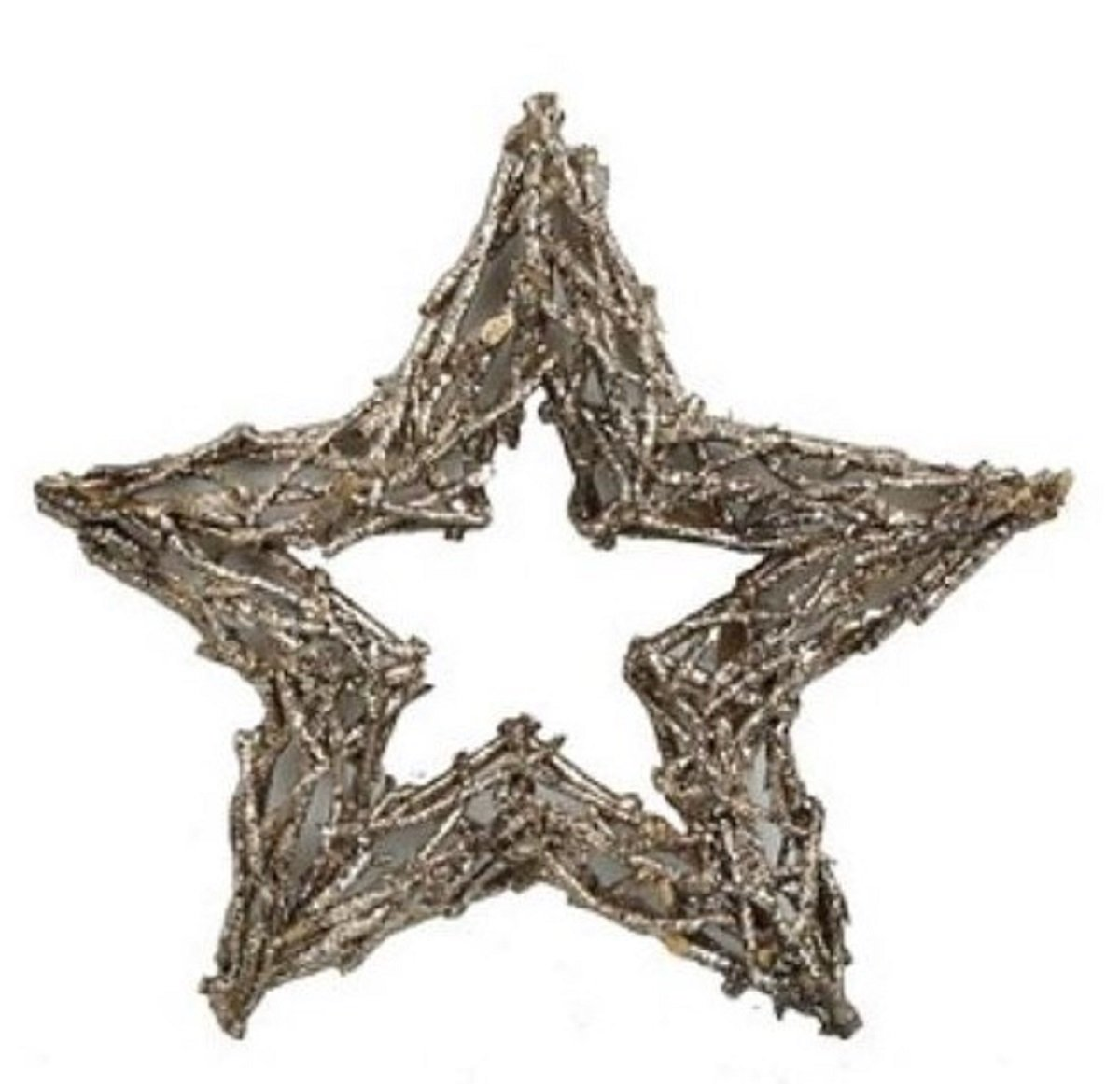 JMB Champagne Glittered Twig Star BUYERS' CHOICE of 16'' OR 12'' (16'')