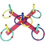 Juegos Jardin Ring Toss Set Lanzamiento de Anillos Deporte Niño Juguete de Exterior o Interior, Colores Esponja Anillos…